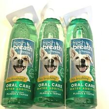 Lot of 3 Tropiclean Dog Cat Canine Fresh Breath Oral Care Water Additive