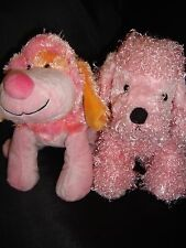 Webkinz PLUSH ONLY LOT of 2 : PINK PUNCH CHEEKY DOG + PINK POODLE - JUST   PLUSH