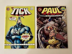 The Tick #1 (3rd Printing) & Paul the Samurai #1 CGC High Grade White Pages