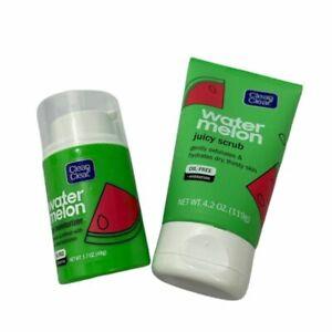Watermelon Juicy Scrub Gel (gently exfoliates) and Moisturize Set Clean & Clear
