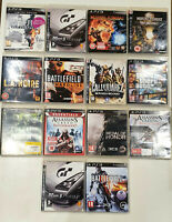 Sony Playstation 3 Assorted PS3 Games Bundle 14 Console Game Lot Selection Discs