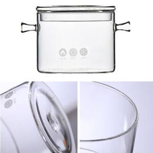 Heat Resistant Soup Pot Glass Cooking Pot Transparent Stew Pot Pan Instant Noodl