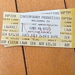 "Guns N Roses RARE ""Riot at Riverport"" ""Rocket Queen Riot"" Ticket July 2, 1991"