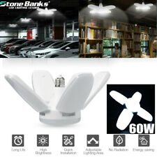 LED Garage Shop Work Lights 60 W 6000lm E27 Home Ceiling Fixture Deformable Lamp
