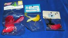 3 VTG 1960'S REAL FEATHER BIRD XMAS ORNAMENTS / CRAFTS N ORIGINAL PACKAGES