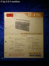 Sony Service Manual CF 470L Cassette Recorder (#0073)