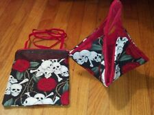 Skulls & Roses ! Sugar Glider Bonding Pouch & Sleeping Hammock!
