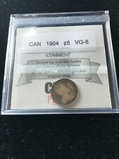1904  Coin Mart Graded Canadian,  ¢5 Cent, **VG-8**