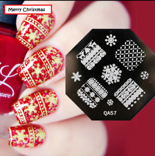 Nail Art Stamping Plates Image Plate Decoration Christmas Snow Sweater QA57