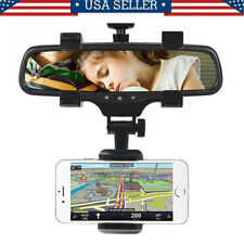 Universal Auto Car Rear View Mirror Mount Cell Phone Holder Stand Cradle For Gps