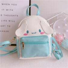 Women Girl's Cute Cinnamoroll Backpack Small PU Leather Shoulder Crossbody Bag