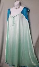 "Daphne Grey Above Ankle SEXY COMFY GREEN NIGHTGOWN SLEEVELESS SZ 2X 52"" BUST"