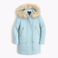 NWT JCrew Chateau Parka coat 0p VINTAGE SKY $365 B5747