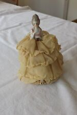 (83) SUPERB BISQUE GERMAN ANTIQUE PIN CUSHION HALF DOLL 17cm