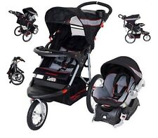 Jogging Stroller Car Seat Combo Black Red Baby Trend Run Travel System Carriage