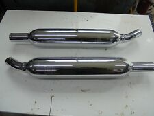 triumph t100 pea shooter accessory exhaust sliencers cans loud
