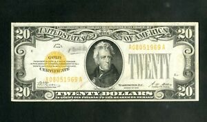 US Paper Money 1928 $20 Gold Certificate NO RESERVE!