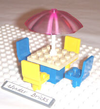 Lego Umbrella Frosty Pink 4 Seats Table 41008 House Chairs