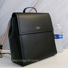 NWT Kate Spade Somerville Road Megyn Backpack Black Leather WKRU3136