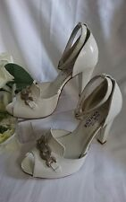 SANDALETTE SCHUHE PARTY GR. 36 Weiß Pumps HIGH Sommer MADE IN ITALY SALE SALE