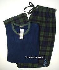CLUB ROOM Sleepwear Men's Size M Fleece Crew Long Pants Pajama Set NEW $70
