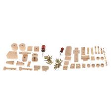 2 SETS DIY Tanker Truck +Motorbike Model Build Kits Wooden Toys Handicrafts