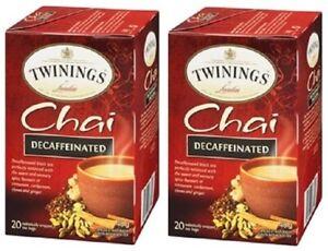 Twinings Of London Chai Decaffeinated Tea 2 Box Pack