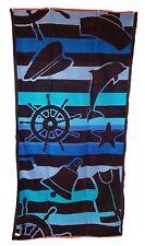 océan rayures bleu nautique Jumbo Serviette grand drap de bain 100% coton