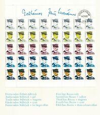 Sweden 1983 Test Print Block of 40 in PFA Folder