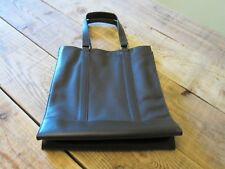 LONGCHAMP *Le Foulonne* Black Leather Tote Bag NEW with dustbag