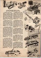 1955 PAPER AD Ideal Toy Truck GMP Big Jim Crane Buddy L Tow Wrecker Farm Tractor