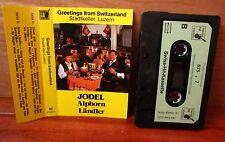 GREETINGS FROM SWITZERLAND cassette tape 1980s Jodel Alphorn Landler