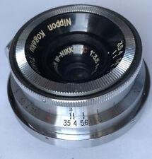 Tokyo 35mm f3.5 Nikon rangefinder lens 3.5cm RF camera W nikkor C - S mount