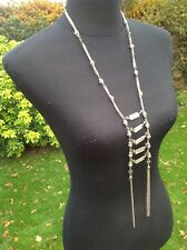 New TU Hypoallergenic Glass Bead Long Bling Dress Costume Necklace Jewellery