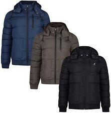 Kangol Men's Quilt Puffer Jacket Ferris Short Padded Warm Hooded Outdoor Coat