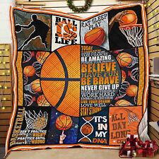 Basketball Quilt Blanket, Basketball Lover Gifts, Sport Motivation Gifts