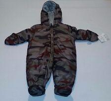 NEW Carters Full Zip Winter Snow Suit 3-6 Months Camo Baby Boy Girl Mittens $70