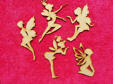 wooden mdf  fairy novelty embellishment craft blank fantasy shapes set A