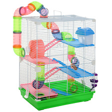 Pawhut 5-Tier Hamster Cage with Water Bottle, Food Dishes & Interior Ladder