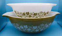 Pyrex Spring Blossom 1 Cinderella Bowls, 444 & 443