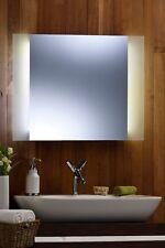 Espejo de Pared Baño LED luz ambiental envolvente con ribete de helado Rect 60 X 80