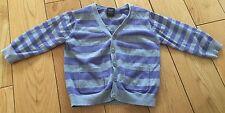 Girls Next Purple & Grey Striped Cardigan Size 12-18 Months