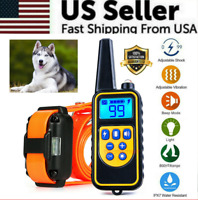 Rechargeable Remote Dog Training Shock Collar Waterproof Hunting Trainer 1 dog