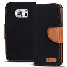 Handy Tasche Samsung Galaxy S6 Edge Plus Book Case Hülle Klapphülle Flip Cover