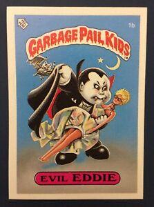 Evil Eddie 1b UK Garbage Pail Kids Series 1(1985)Topps~NMT/MINT ~ Pack Fresh