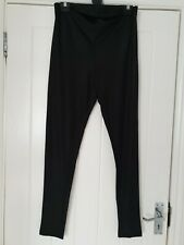 Mamalicious Black Shiny Over The Bump Maternity Leggings Uk Size M