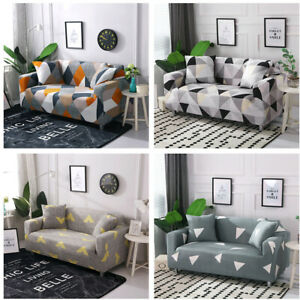 1-4 Seater General Elastic Fabric Patterns Sofa Covers Couch Slipcovers Stretch