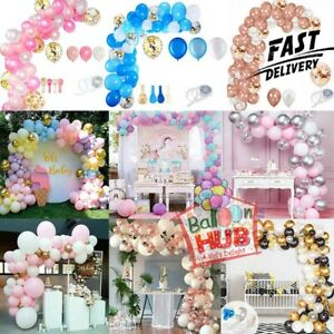 Balloon Arch Kit +Balloons Garland Birthday Wedding Baby Shower Party Decor UK