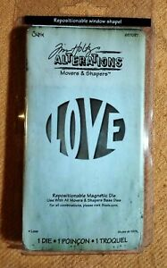 Tim Holtz  Alterations - LOVE - Movers & Shapers - BNIP