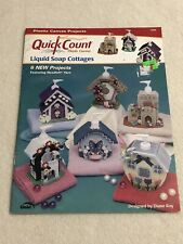Quick Count Plastic Canvas Liquid Soap Cottages Pattern Book 6 Projects